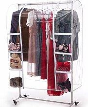 Transparente Kleiderständer-Abdeckung, 150 cm,