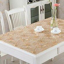 Transparente PVC-Tischdecke mit weichem Glas,