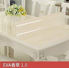 Transparente Pvc-Tischdecke, Wasserdicht Und Verbrühen, Reinigung Tischdecke, Evavanilla1.0, 80 * 120 Cm,