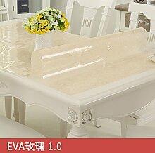 Transparente Pvc-Tischdecke, Wasserdicht Und
