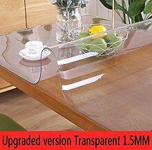 LIUJUAN Tischdecken PVC Plastik Spitze Runde Tischdecke