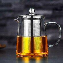 Transparente Teekanne mit hitzebeständigem