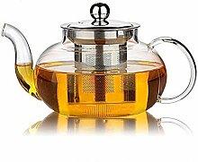 Transparente Teekanne mit losem