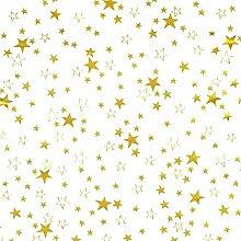 Transparente Tischdecke mit Sternen Gold DIKCKE