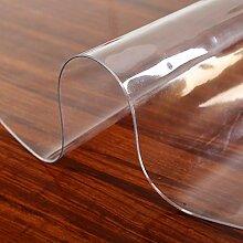 Transparente Tischdecke mit