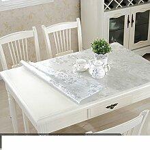 Transparente tischdecke/pvc,weiche kunststoff-glas,wasserdicht],anti-hot coffee-table-kissen/kristall-teller,rechteck tischdecke/dining schreibtischunterlagen-H 90x140cm(35x55inch)
