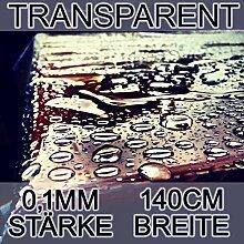 Transparente Tischdecke Schutz Wachstuch Tischfolie Meterware 0,1mm Stark 140cm Breit Länge wählbar