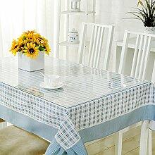 Transparente tischdecke/wasserdichten untersetzer/plastic free waschen tisch mat-A 80x140cm(31x55inch)