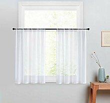 Transparente Vorhänge, weiß, 61 cm Länge,