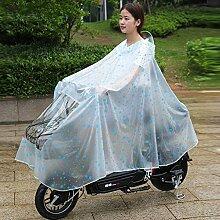 Transparenter Poncho Elektro-Motorrad-Regenmantel