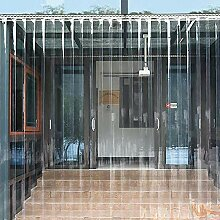 Transparenter PVC-Streifenvorhang, winddichter