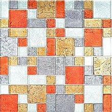 Transparentes Crystal Mosaik Glasmosaik gold