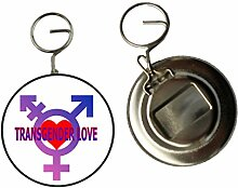 Transsexuell LOVE Schlüsselanhänger Schlüsselring, Flaschenöffner, Geschenkidee, 58 mm