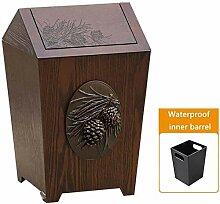 TRASH CAN Mülleimer Holz Müllschrank