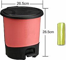 Trash, Europäischer Papierkorb, Kreative Mülleimer, Wohnzimmer Hotel Küche Und WC Trash, Großer Abfall, Abfalleimer ( Farbe : Rot , größe : M )