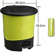 Trash, Europäischer Papierkorb, Kreative Mülleimer, Wohnzimmer Hotel Küche Und WC Trash, Großer Abfall, Abfalleimer ( Farbe : Grün , größe : M )