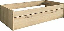 Trasman 1004roble Ausziehbett, melaminharzbeschichtete Holzspanplatten, bardolino eiche, 195 x 95 x 50 cm