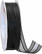 Trauerband Palma schwarz 1 Rolle 25mm x 20m