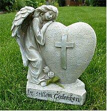 *Trauerengel Grabschmuck Engel mit Herz *In
