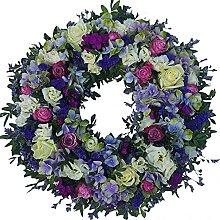 Trauerkranz für eine Frau von Flora Trans