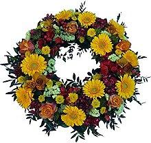 Trauerkranz mit Rosen in orange von Flora Trans