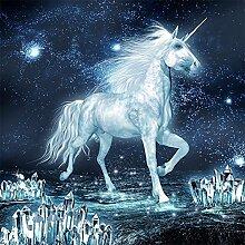 Traum Pferd Diamant Malerei 5D DIY Weiß Einhorn