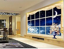 Traumfenster Sterne Himmel Tapete 3D Moderne