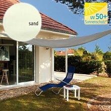 TraumGarten Sonnensegel Dreieck 140 g/qm sand -