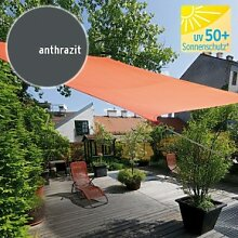 TraumGarten Sonnensegel Viereck 180 g/qm anthrazit