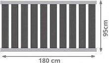 TraumGarten Vorgartenzaun Raja Alu WPC XL Set