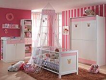 TRAUMHAFT Komplett Babyzimmer weiss - rosé