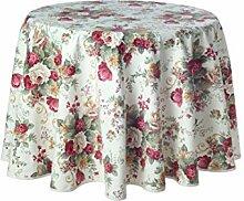 Traumhaft schöne runde Tischdecke, Motiv Irene,
