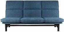 Traumnacht Schlafsofa Brooklyn mit Lattenrost, Liegefläche 135 x 195 cm, inkl. Gestellhusse, blau