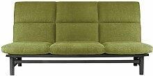 Traumnacht Schlafsofa Brooklyn mit Lattenrost, Liegefläche 135 x 195 cm, grün