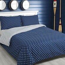 Traumschlaf Wendebettwäsche Marina Blue Anker