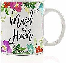 Trauzeugin Kaffee Tee Becher Geschenk von der