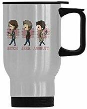 Travel Coffee Mug Bitch Jerk Assbutt Water Coffee