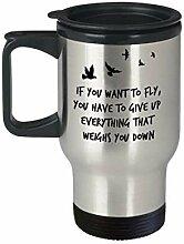 Travel Coffee Mug mit Inspirational Qoutes,