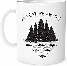 Travel Mug, Camping Mug, Adventure Awaits,