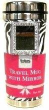 Travel Mug with Mirror 14 Ounces Zebra Design by