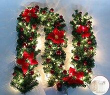 Trayosin 2.7m Weihnachtsgirlande Tannengirlande