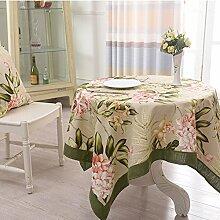 TRE Amerikanische Baumwolle Tischdecke/ Patchwork-Tischdecke/ Tischtuch/ TV Schrank Tischdecke-A 160x160cm(63x63inch)