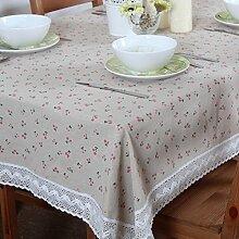 TRE Baumwoll-Leinen-Tabelle Tuchgewebe/Tischdecke decke/Tischdecke decke/ decken Handtücher/ nach Hause Nähen-D 110x110cm(43x43inch)