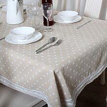 TRE Baumwoll-Leinen-Tabelle Tuchgewebe/Tischdecke decke/Tischdecke decke/ decken Handtücher/ nach Hause Nähen-E 150x220cm(59x87inch)
