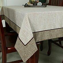 TRE Baumwolle einfarbig Stil Esszimmer Tisch Tischdecke von Lepra/Tischdecke decke-A 140x180cm(55x71inch)