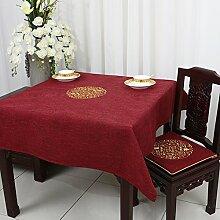 TRE Couchtisch rechteckig Tischdecke/ Garten Tischdecke Stoffe aus Baumwolle/Tischdecke decke/Schreibtisch-M 150x150cm(59x59inch)