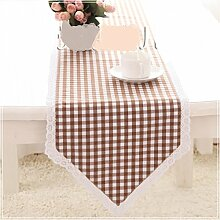 TRE Englischen Garten Gitter Tischläufer/ Tischtuch/ Tisch/Bett Renner-A 210x30cm(83x12inch)