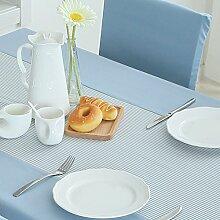 TRE Europäische einfache Streifen Tischdecke/