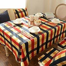 TRE Europäische Garten Cotton Plaid Tabelle Tuchgewebe/Tischdecke decke/Tischdecke decke/Abdeckung Tuch-A 140x180cm(55x71inch)
