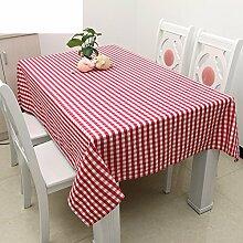 TRE Europäische Garten frische Tischwäsche/Einfache Plaid Tabelle Tuchgewebe/Tischdecke decke/Tischdecke decke/Abdeckung Tuch-B 60x60cm(24x24inch)
